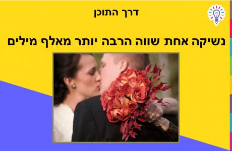 ניהול תוכן: נשיקה אחת שווה הרבה יותר מאלף מילים